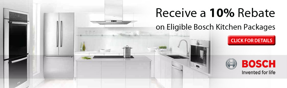 Save up to 10$ with qualified Bosch Appliance Purchase