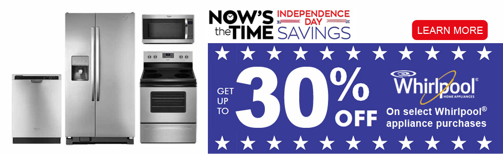 Whirlpool 4th of July Savings-Save up to 30%